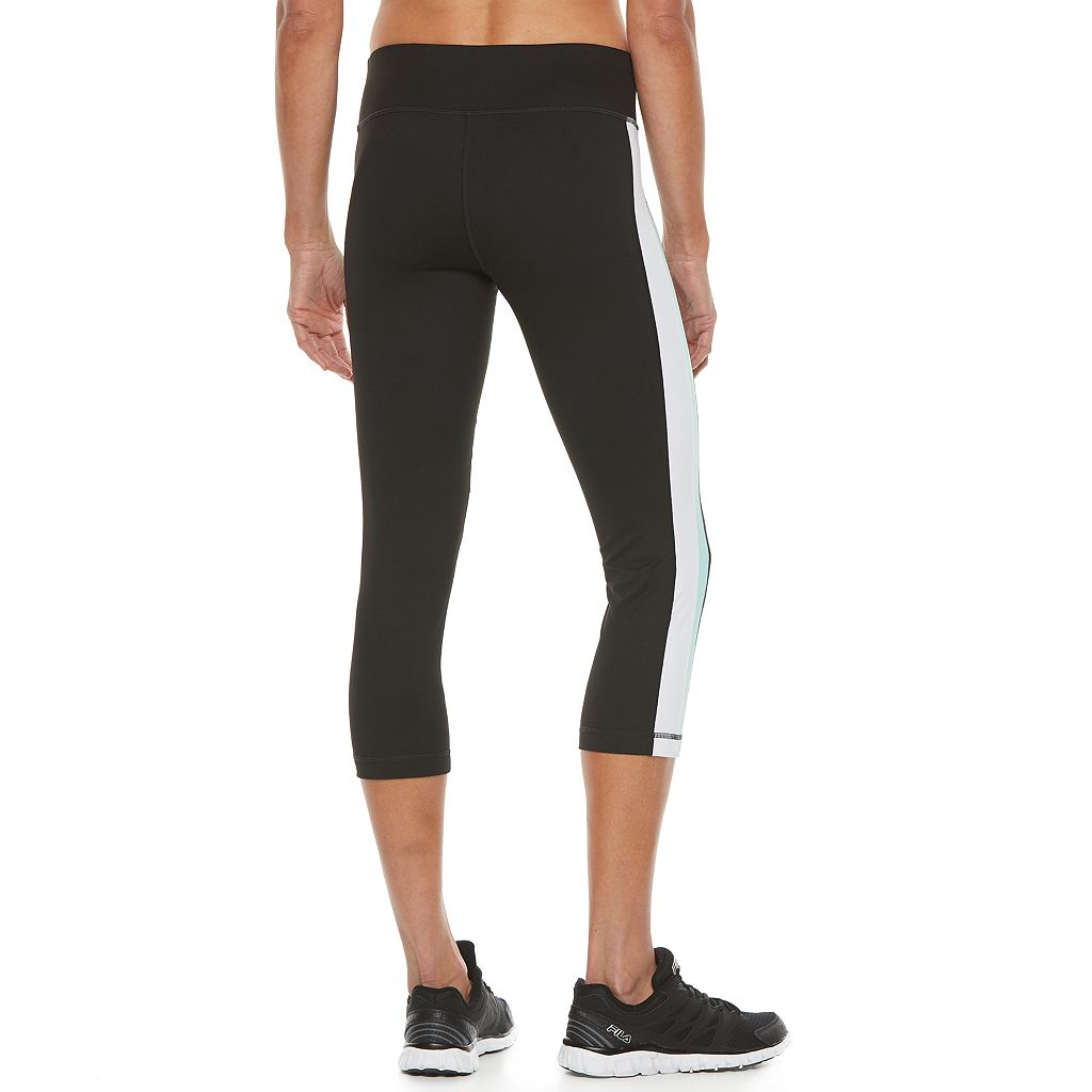 Women's FILA SPORT® Cross Stripe Capri Leggings