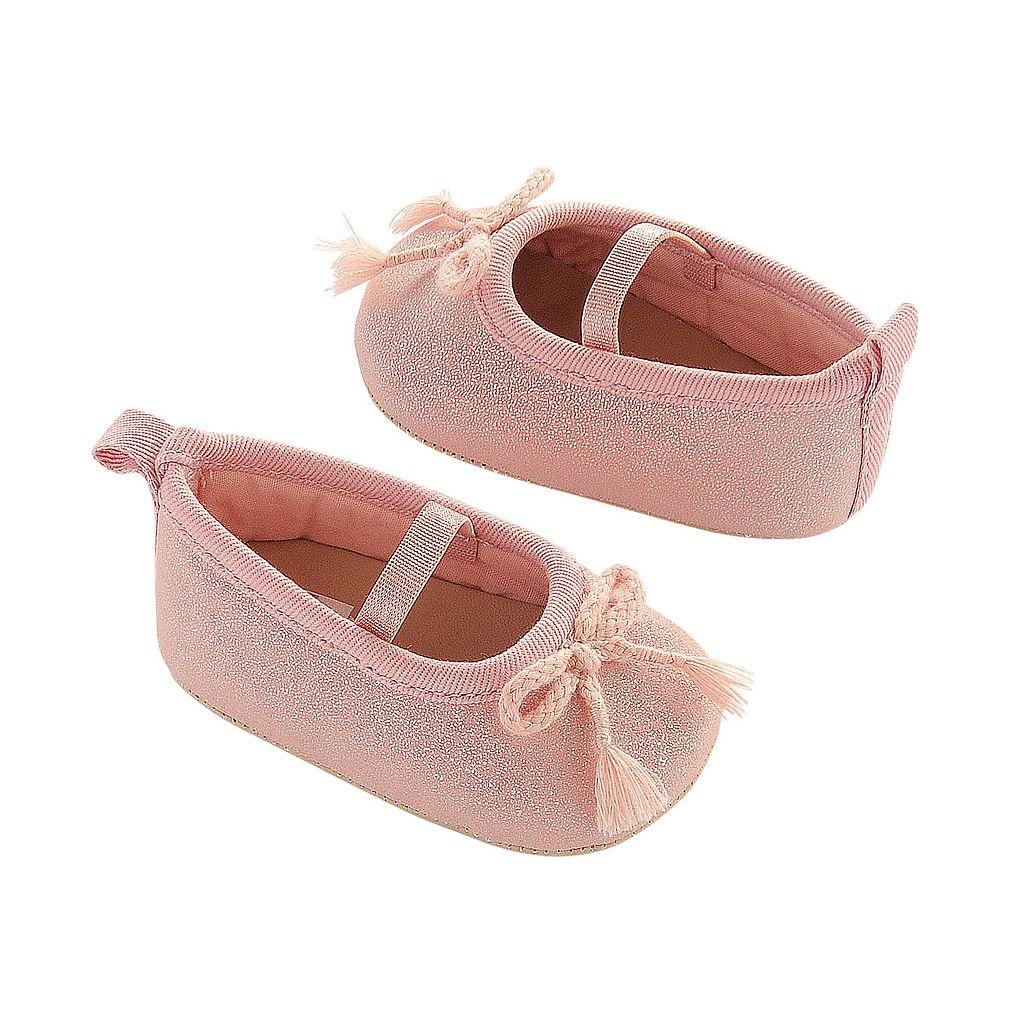 Newborn Baby Girl Carter's Tassle Mary Jane Crib Shoes