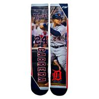 Men's For Bare Feet Detroit Tigers Miguel Cabrera Trading Card Socks