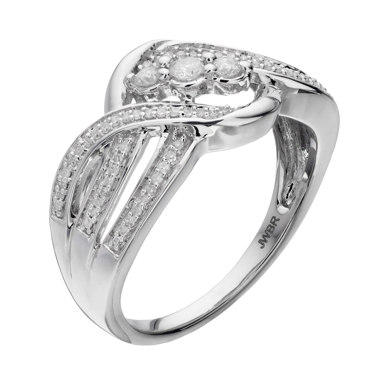 Sterling Silver Diamond Rings Jewelry