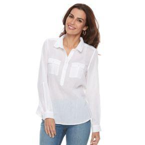 Women's Croft & Barrow® Gauze Shirt