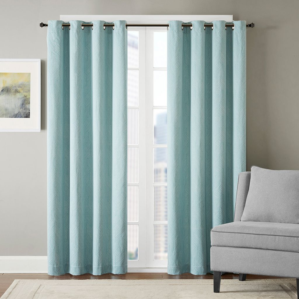 Madison Park Hayden Chevron Jacquard Window Curtain