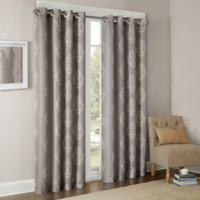 Madison Park Kensington Damask Printed Window Curtain