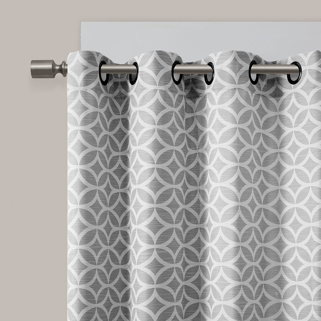 Madison Park 2-pack Claire Fret Jacquard Window Curtains