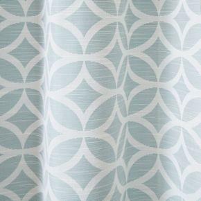 Madison Park Claire Fret Jacquard Window Curtain Set