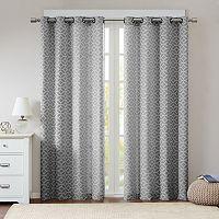 Madison Park 2-pack Claire Fret Jacquard Window Curtains