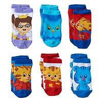 Toddler Boy Daniel Tiger's Neighborhood 6 pkLow-Cut Socks