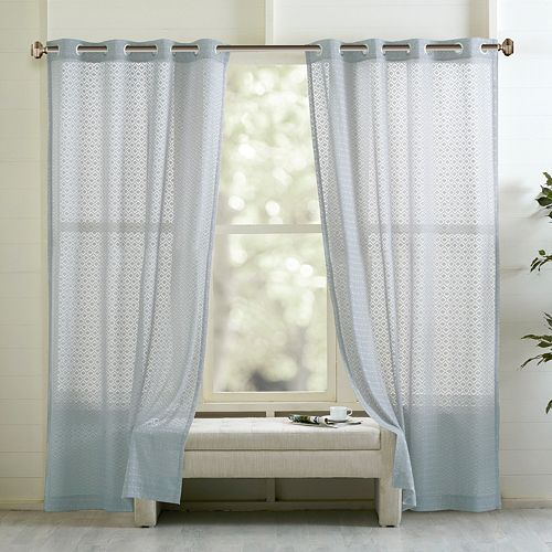 Madison Park Marie Geo Clipped Curtain