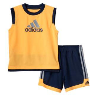 Toddler Boy adidas Logo Graphic Tank Top & Shorts Set
