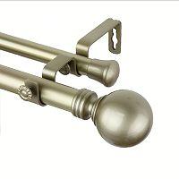 Rod Desyne Globe Adjustable Double Curtain Rod