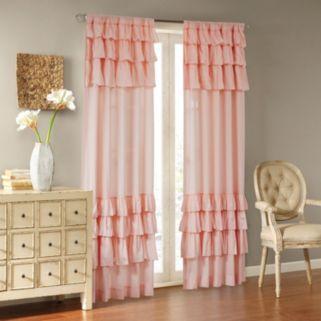 Madison Park Joycelyn Oversized Ruffle Window Curtain