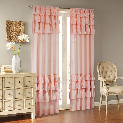 Madison Park 1-Panel Joycelyn Oversized Ruffle Window Curtain