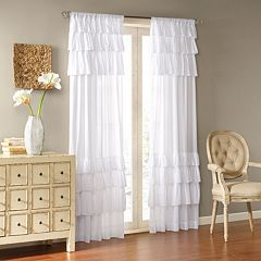 Madison Park Joycelyn Oversized Ruffle Window Curtain