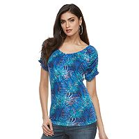 Women's Jennifer Lopez Ruched Print Tee