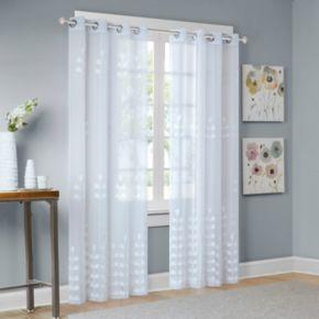 Madison Park Kira Embroidered Sheer Window Curtain