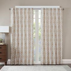 Madison Park Leada Metallic Jacquard Window Curtain