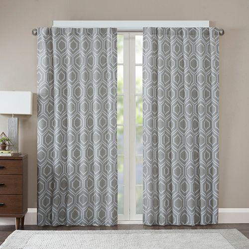 Madison Park Leada Metallic Jacquard Curtain