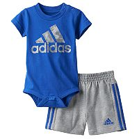 Baby Boy adidas Logo Graphic Bodysuit & Shorts Set