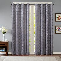 Madison Park Ezra Diamond Jacquard Window Curtain