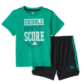 "Baby Boy adidas ""Dribble, Shoot & Score"" Tee & Shorts Set"