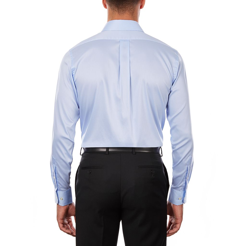 Men's Chaps Regular-Fit Stretch Spread-Collar Dress Shirt