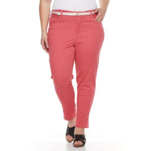 Plus Size Gloria Vanderbilt Amanda Roll-Cuff Crop Jeans