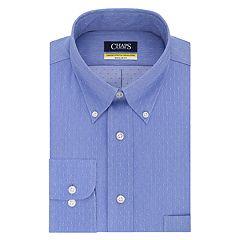 Men's Chaps Regular Fit Comfort Stretch Button-Down Collar Dress Shirt