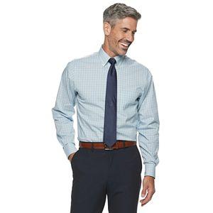 Men?s Chaps Regular Fit Performance Engineering Comfort Stretch Button-Down Collar Dress Shirt