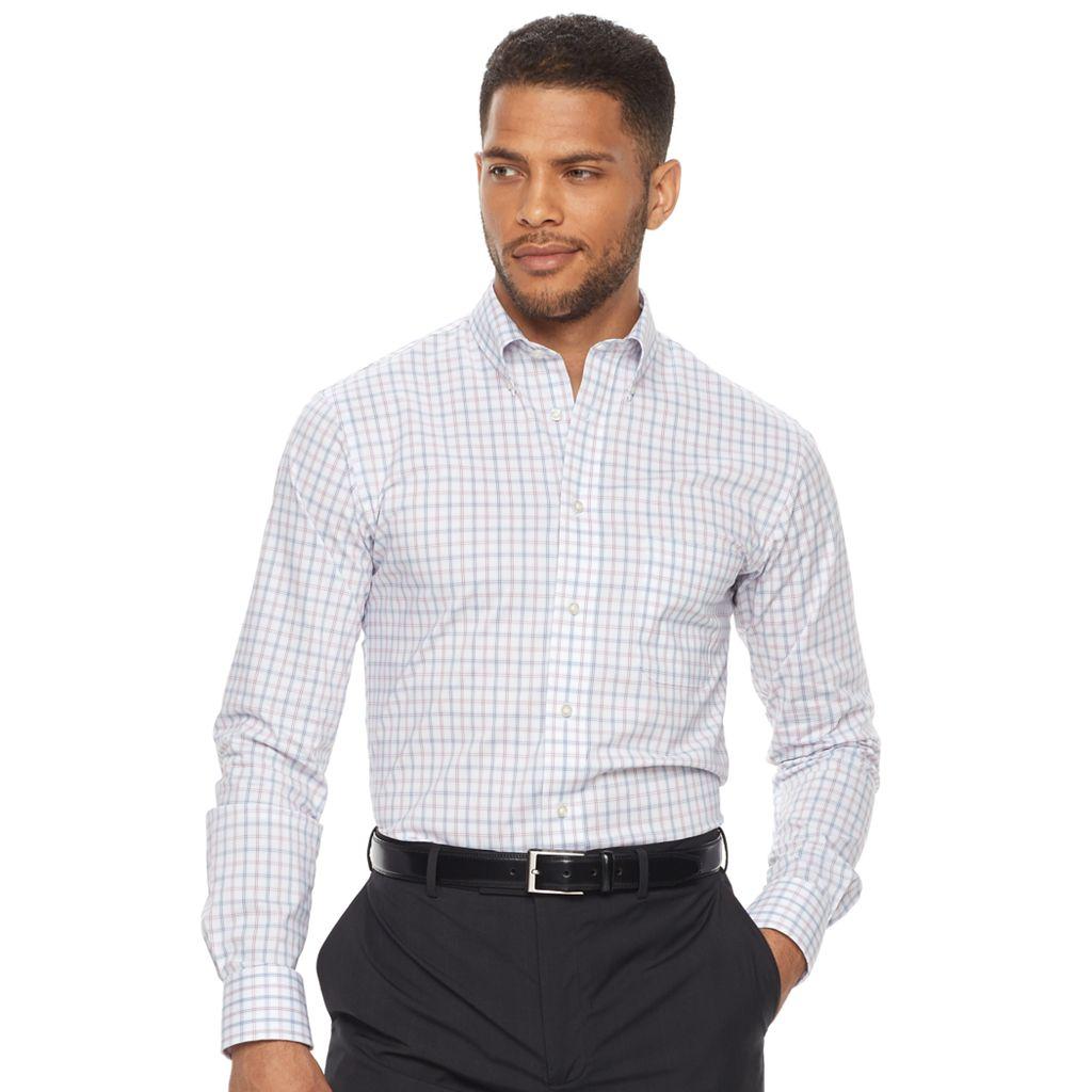 Men's Chaps Regular-Fit Stretch Button-Down Collar Dress Shirt