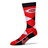 Adult For Bare Feet Cincinnati Reds Argyle Line Up Crew Socks