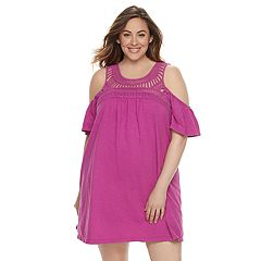 Plus Size SONOMA Goods for Life™ Macrame Cold-Shoulder Dress