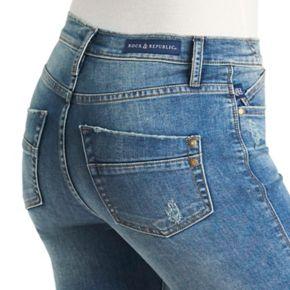 Women's Rock & Republic® Kashmiere Midrise Cuffed Skinny Jeans