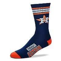 Adult For Bare Feet Houston Astros Deuce Striped Crew Socks