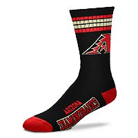 Adult For Bare Feet Arizona Diamondbacks Deuce Striped Crew Socks