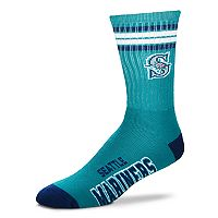 Adult For Bare Feet Seattle Mariners Deuce Striped Crew Socks