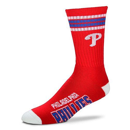 Adult For Bare Feet Philadelphia Phillies Deuce Striped Crew Socks