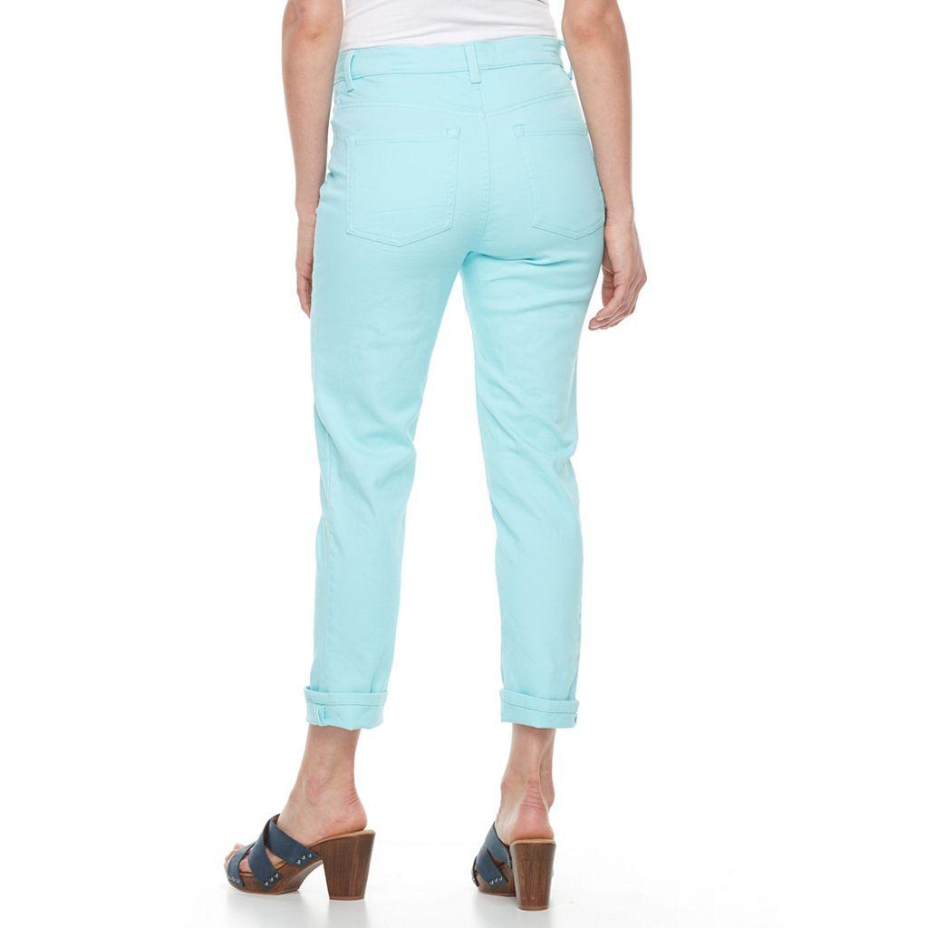 Petite Gloria Vanderbilt Amanda Cuffed Ankle Pants