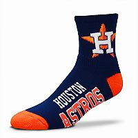 Adult For Bare Feet Houston Astros Team Color Quarter-Crew Socks