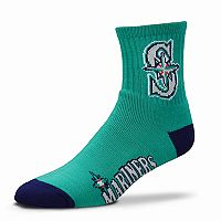 Adult For Bare Feet Seattle Mariners Team Color Quarter-Crew Socks