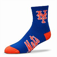 Adult For Bare Feet New York Mets Team Color Quarter-Crew Socks