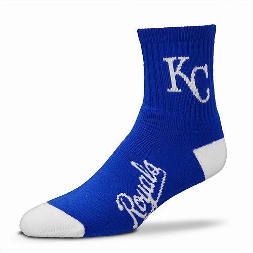 Adult For Bare Feet Kansas City Royals Team Color Quarter-Crew Socks
