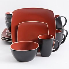 Gibson Home Soho Lounge 16 pc Square Dinnerware Set