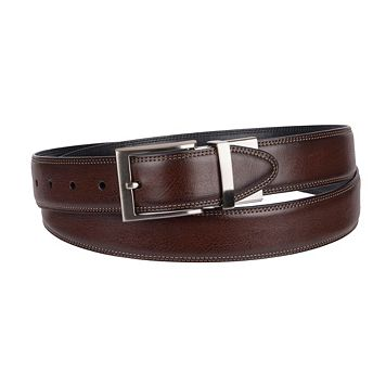 Big & Tall Croft & Barrow® Double-Stitched Feather-Edge Belt