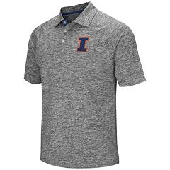 Men's Campus Heritage Illinois Fighting Illini Slubbed Polo