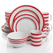 Gibson Home Just Dine Bistro Edge 16 pc Dinnerware Set