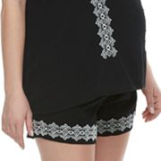 Maternity a:glow Embroidered Soft Shorts