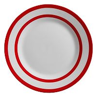 Gibson Home Just Dine Bistro Edge 4 pc Dinner Plate Set