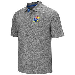 Men's Campus Heritage Kansas Jayhawks Slubbed Polo