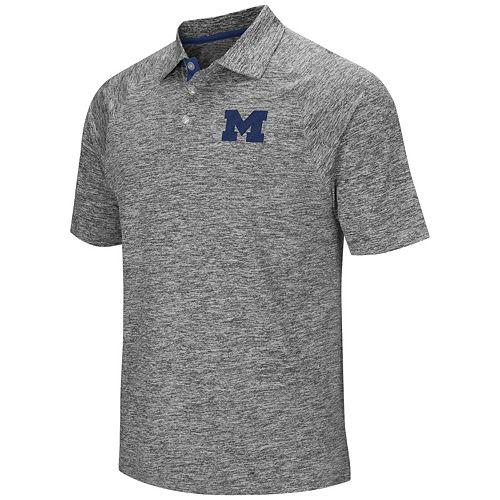 Men's Campus Heritage Michigan Wolverines Slubbed Polo