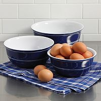 Gibson Home Just Dine Bistro Edge 3-pc. Nesting Bowl Set